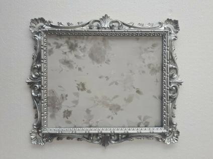 Bilderrahmen+Schutzglas Barock Silber Antik 43x37 Bilderrahmen Fotorahmen C532