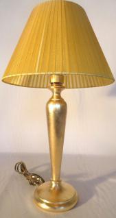 Tischleuchte , Nachttischlampe , Tischlampe 54 cm Gold / Senf