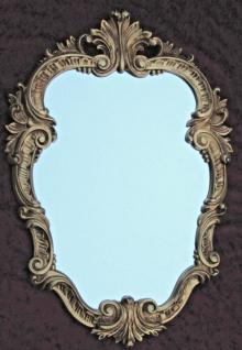 Wandspiegel Antik Gold Oval Vintage Badspiegel Barock Shabby 49X33 Rokoko C443
