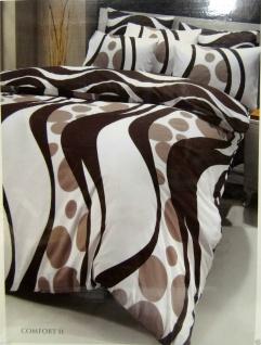 Bettwäsche Garnituren 4 teilig Baumwolle Ranforce 200x220 Comfort Braun Renforce