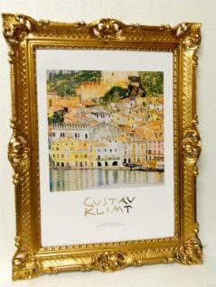Bild mit Rahmen xxl Gemälde 90x70 SISLEY MALCESINE SUL LAGO DIE GARDA Rahmen