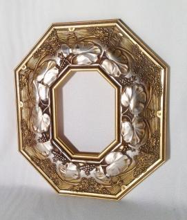 Bilderrahmen Holz Gold 42X36cm Fotorahmen Antik 19x24cm Gemälderahmen oval