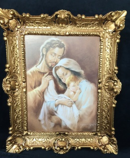 Bild Heilige Bild 57x47 Antik Rahmen Jesus Christus Maria Mutter Gottes Josef - Vorschau 3