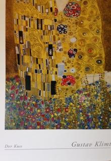 The Kiss Gustav Klimt 90x70 Der Kuss Gemälde Wandbild Kunstdruck Barock Bild - Vorschau 5