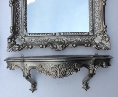 Wandspiegel Rechteckig mit Konsole Antik Silber Spiegelablage 56X46 Barock - Vorschau 5