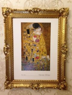 The Kiss Gustav Klimt 90x70 Der Kuss Gemälde Wandbild Kunstdruck Barock Bild - Vorschau 3