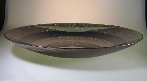 Glänzende Glitzernde Deko BRAUN SCHALE 38cm x höhe 6cm