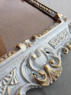 Bilderrahmen Fotorahmen Weiß-Gold Barock Rechteckig 45x37 Rahmen Antik ohne Glas