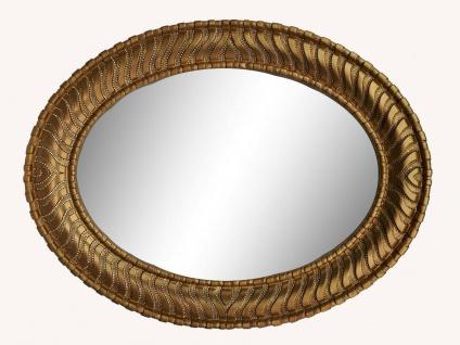 Wandspiegel Gold Groß Spiegel Oval strassstein Barock 125 x 95 Flurspiegel