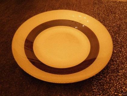 Dekoschale Obstschale GOLD-beige-Braun 38cm x H6cm schale behälter tischdeko