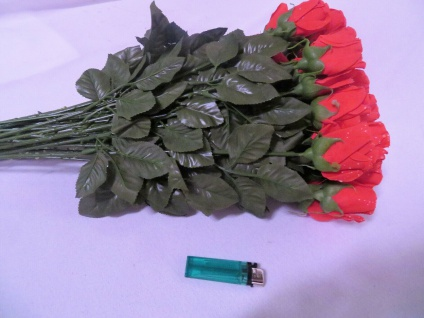 12 x Seidenblumen höhe 69 cm künstliche Rosen Rot Restposten Neu Ware - Vorschau 3