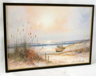 Gemälde Ölbilder Holzrahmen 50x70 Bilder Bilderrahmen BraunGOLD SONDERANGEBOT