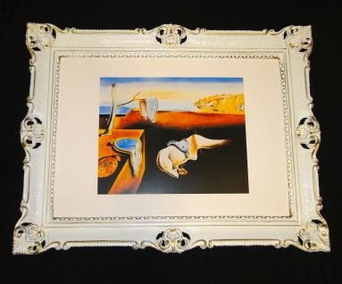 Bild mit Rahmen xxl Gemälde 90x70 THE PERSISTENTE OF MEMORY Salvador Dali, Rahmen