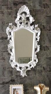 Wandspiegel Barock Weiß Silber Spiegel Antik Badspiegel Barspiegel 83x43 Oval - Vorschau 2