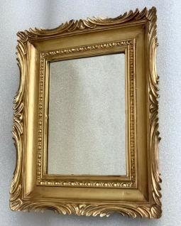 Barock Spiegel Gold Italienische Wandspiegel Antik Rechteckig 33x28 Modern Deko - Vorschau 4