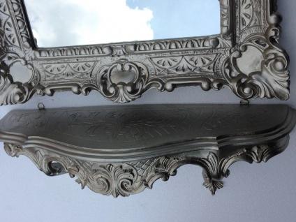 Wandspiegel Rechteckig mit Konsole Antik Silber Spiegelablage 56X46 Barock - Vorschau 4