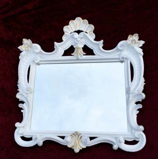Wandspiegel Weiß-Gold Antik Barock Badspiegel Flur Spiegel 60X57 Jugendstil c494 - Vorschau 4