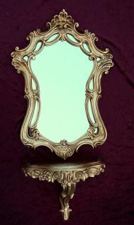 Wandspiegel mit Konsole Gold Spiegel 55x40 BAROCK Oval Wandspiegel Ablage C498