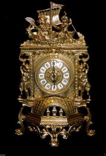 Kaminuhr Messing Tischuhr Antik Barock Gold 42cm Massiv Neu - Vorschau 1