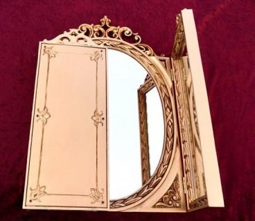 Wandspiegel Antik Rund Gold Badspiegel Spiegel 60X46 Shabby Deko Spiegel c508