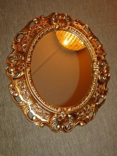 Wandspiegel Spiegel BAROCK Antik GOLD 45x38 Oval Badspiegel Rahmen mirror neu - Vorschau 1