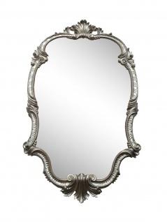 WANDSPIEGEL Antik Silber Oval 99x55 Antik Spiegel Barock Friseurspiegel C410 NEU - Vorschau 5