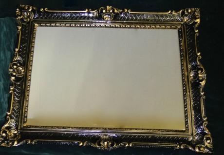 Spiegel Antik Wandspiegel Barock xxl Spiegel Schwarz-gold Rahmen hochglanz 90x70