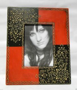 Bilderrahmen HOLZ Antik 24x30 Rot Schwarz 13x18 Ausstellungsstück Fotorahmen - Vorschau 4