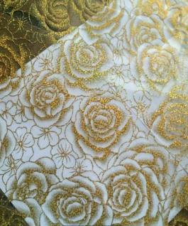 Tischfolie Tischdecke Tischschutz Schutzfolie 80cm transparent mit Muster 2mm