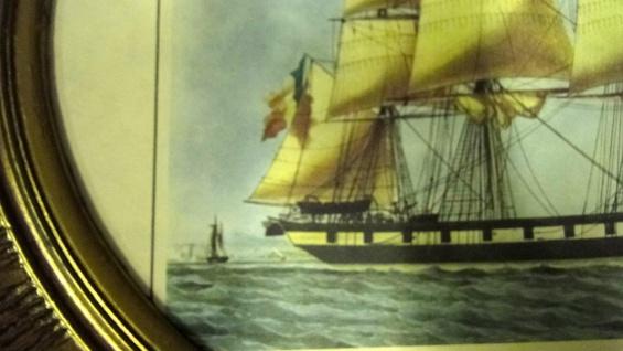Segelschiff Gemälde Schiff Denlees Bild Bilderrahmen groß 58X68 Fotorahmen - Vorschau 3