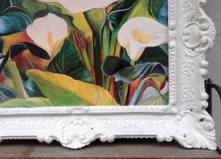 Bilderrahmen Weiß Barock 56x46 Fotorahmen Antik Bilderrahmen Rechteckig 30x40 - Vorschau 2