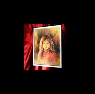 Weinende Kinder als Motiv mit Alurahmen& Glas 74 x54cm Wanddekoration Rahmen