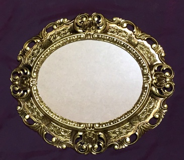 Bilderrahmen OVAL Gold Antik Barock 45X37 Fotorahmen Rahmen mit Glas