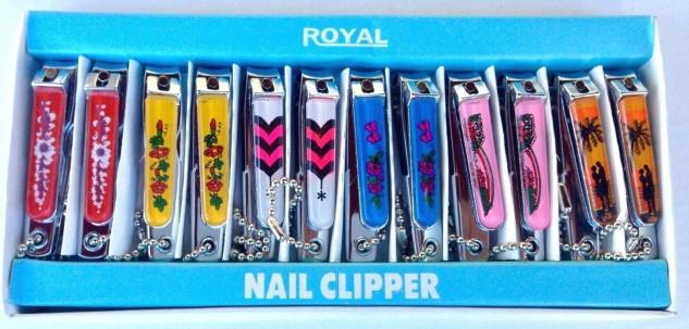 12 x Nagelknipser mit Messer Feiler Kinder royal Nail Sonderposten Restposten