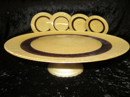 Servierplatte 33cm Kuchenplatte Kuchen Teller 7 Teilig