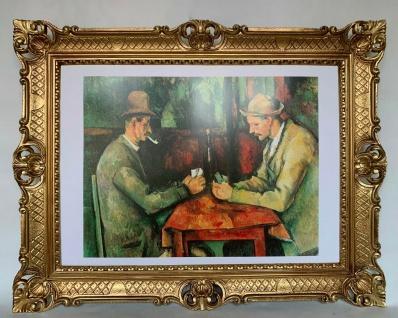 Gemälde Kunstdruck Wandbild 90x70 Paul Cezanne Kartenspieler Berühmte Bild