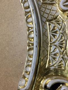 Bilderrahmen Antik Gold-Weiß Oval 45X37 Barock Fotorahmen Bilderrahmen mit Glas - Vorschau 3
