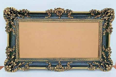 Bilderrahmen Antik Barock Schwarz gold WANDDEKO 96x57 Foto bilderrahmen Groß