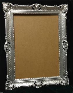 Bilderrahmen Barock Silber Hochzeitsrahmen Antik 90x70 Bilderrahmen groß - Vorschau 1