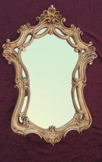 Wandspiegel Antik Oval Gold Badspiegel Spiegel 54X39 Shabby Flurspiegel c498 - Vorschau 5