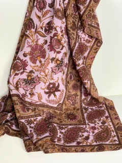 Bandana Halstuch Schal 110x110 Kopftuch Flieder Weiß Tuch Foulard Esarp Hijab