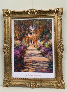Bild mit Rahmen Barock 90x70 Jardin de Monet a Giverny Kunstdruck Antik Repro