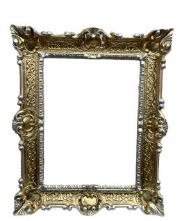 Wandspiegel Barock Gold Silber 56x46 Badspiegel vintage Retro Rokoko Repro NEU