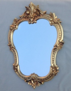 Wandspiegel Antik Gold Oval Retro 50x35 Vintage Barock Spiegel Badspiegel C444G - Vorschau 3