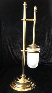 Stand wc Garnitur 55 cmToilettenbürste Klopapierhalter Bürste poliertes Messing