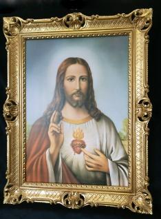Jesus Christus Wandbild Christliche Heilige Jesus Bild Bilderrahmen Gold H1 - Vorschau 2