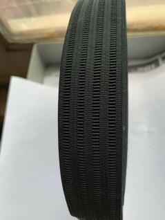 10 Meter Gummikordel Gummiband Hosengummi Gummilitze 35 mm Weiß-Schwarz kochfest - Vorschau 2