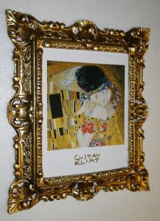 Bilder mit Rahmen Kunstdruck Gustav Klimmt der Kuss 45x37 Barockrahmen - Vorschau 4