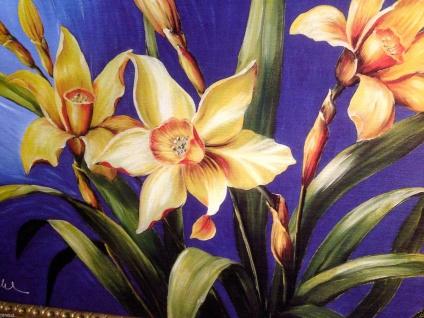 Blumen Bild Lilien Gemälde Wandbild 50x70 Wandbild MDF Rückwand poster