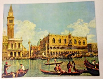 Gondelfahrer Venedig Gemälde Wandbild Canale Grande Italien 50x40 auf MDFPlatte